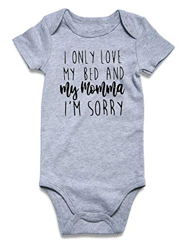 Onesie Baby Gift - BFUSTYLE I Only Love My Bed and My Momma Im Sorry Onesie, Funny Drake Inspired Onesie, New Baby Gift