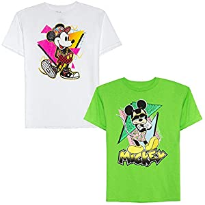 Disney Boys' Big 2 Pack of 90's Mickey Graphic T-Shirts