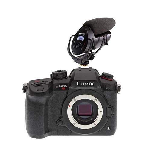Panasonic Lumix DC-GH5s Mirrorless Camera Body - with Shure VP83F LensHopper Camera-Mount Shotgun Microphone -