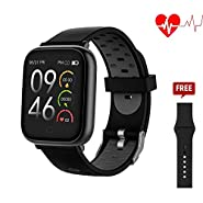 321OU Smart Watch - Fitness Tracker with Heart Rate Monitor, Activity Tracker, Pedometer, Sleep Monitor, Calorie Counter for Men Women Kids Compatible with Android iOS Phone