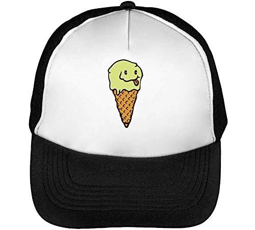 Beisbol Cream Gorras Snapback Ice Blanco Hombre Smile Negro AxOpqwX1q