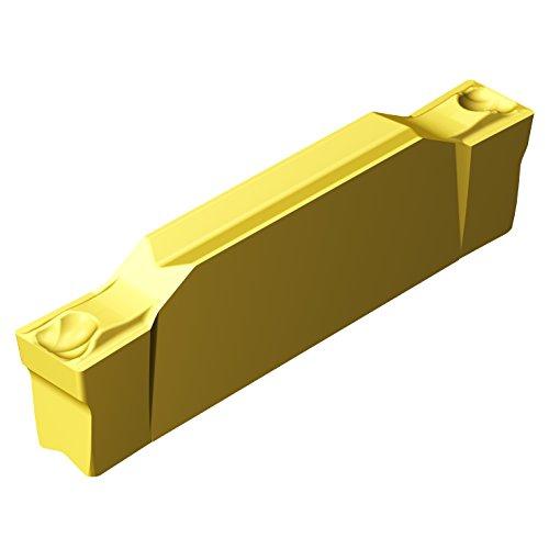Sandvik Coromant CoroCut 2-Edge Carbide Grooving Insert, GF Geometry, GC2135 Grade, Multi-Layer Coating, 2 Cutting Edges, N123E2-0200-0002-GF, Neutral Cut, 0.079