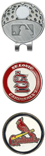 Team Golf MLB St Louis Cardinals Golf Cap Clip with 2 Removable Double-Sided Enamel Magnetic Ball Markers, Attaches Easily to Hats - Louis Cardinals Mlb Golf