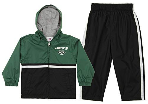 Outerstuff NFL Infant (12-24) and Toddler (2T-4T) New York Jets Windsuit Set, Green 4T
