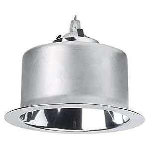 Lightolier C4MRDCLW Ceiling Mount 4 1 2 Inch Reflector Trim 16 Gauge Aluminum