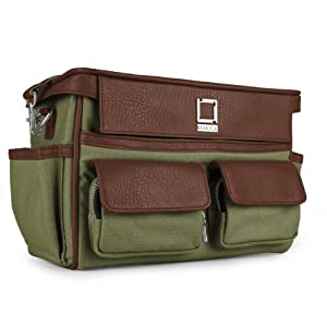 Camera Traveling Bag ( Forrest Green / Espresso Brown) for Sigma SD1 Merrill DSLR Camera