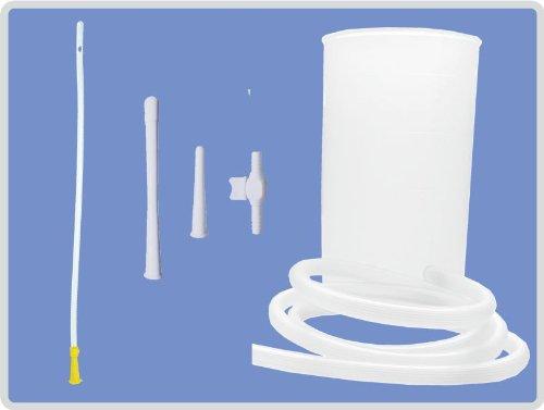 Irrigator-Set 1 Liter, Einlaufgerät für Darm und Unterleib mit inkl. flexibler Einlaufhilfe