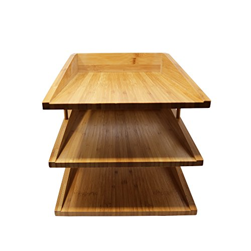 Kagura Bamboo Desk File Tray Office Organizer | Perfect for Sorting or Stacking Letter Documents, Folder or Paper Supplies | 100% Real-Bamboo Eco-Friendly by KAGURA BAMBOO (Image #3)