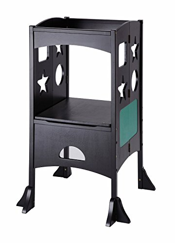 Black Folding Design Kitchen Help Step Stool With