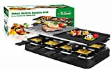 Artestia Raclette Grill with Two Half Top Plates
