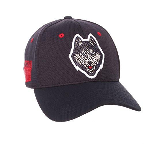 UCONN Huskies Zephyr Dark Navy Rambler Structured Stretch Fit Hat Cap (M/L)