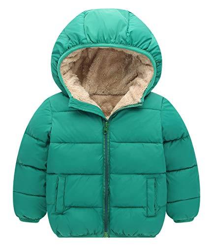 Cherry Jacket Girls - Happy Cherry Boys'Bubble Jacket Thick Cotton-Padded Parka Jacket Hooded Fleece Lining Coat 6T-7T