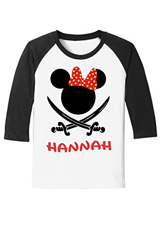 Ladies Swords and Dots Pirate Night Tee - with Personalization Option Adult Ladies Unisex Youth Family Matching