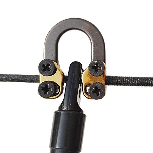(2 Pcs Archery D Loop Metal D Loop Ring Buckle Rope Ulimate Hunting D-Loop Bowstring D-Loop Accessories)