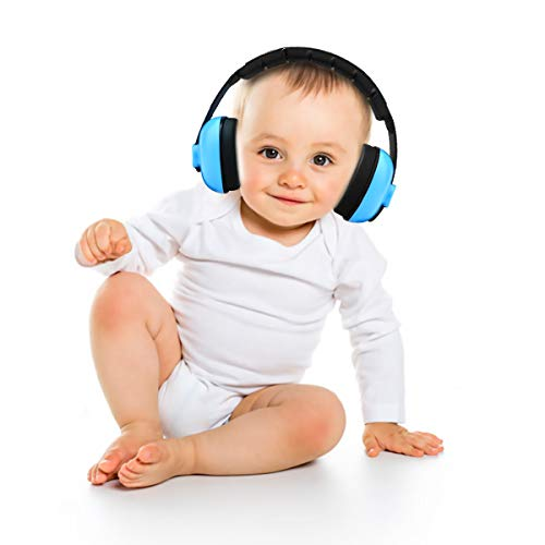 Baby Earmuffs Kids Noise Cancelling Infant Hearing Ear Protection Headphones Fully Adjustable Soft & Comfortable Reduction Sound Proof for 0-2 Years Babies Ear Muffs