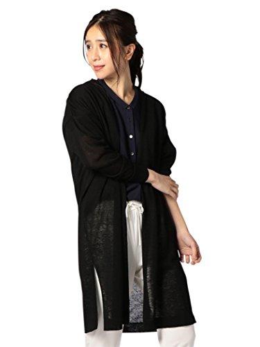 (ノーリーズ) NOLLEY'S 裾スリットVネックロングカーディガン 8-0036-2-02-001