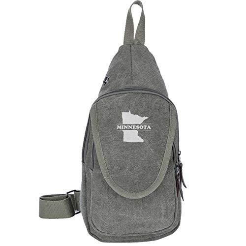 (Minnesota State-1 Canvas Sling Bag Shoulder Backpack For Men&Women Multipurpose Hiking Shoulder Bag)