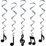 Beistle 57623 5-Pack Musical Note Whirls, 3-Feet