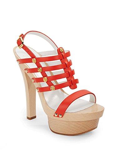 Versace-Studded-Platform-Slingback-Sandal-OrangeGold