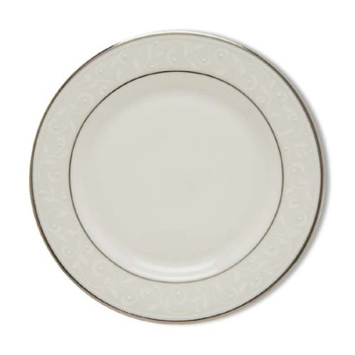 Lenox Opal Innocence Platinum Banded Bone China Butter Plate