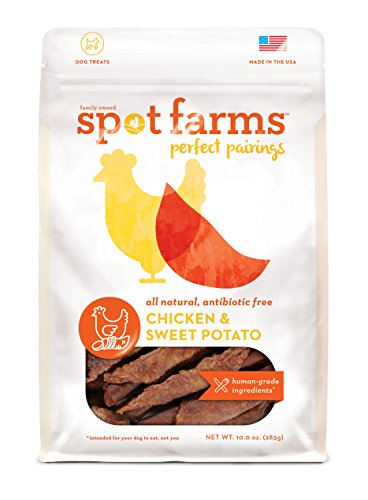 Spot Farms All Natural Human Grade Dog Treats, Perfect Pairings, Chicken And Sweet Potato, 10 Ounce