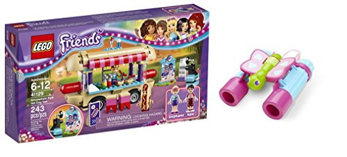 LEGO Friends Amusement Park Hot Dog Van 243 Pcs & free Gifts Butterfly Binoculars (Colors may vary) Toys (Stephanies Bakery Stand compare prices)