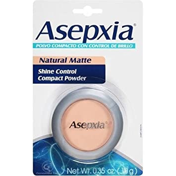 Maquillaje En Polvo Asepxia Para Piel Grasa - Polvo Compacto Con Control De Brillo - Para