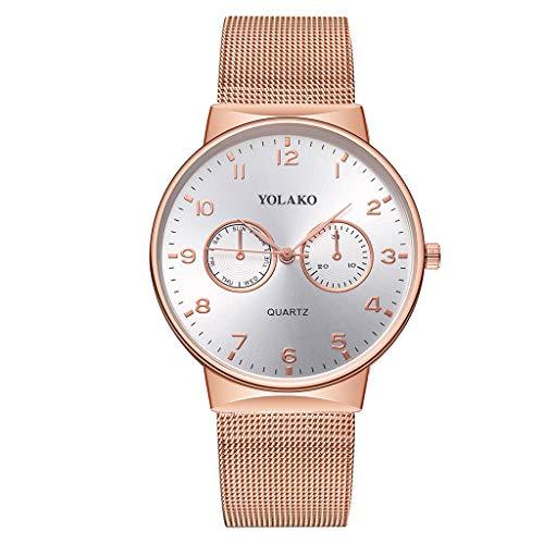 Watch Gold Lover (Mens Watches,Fxbar Luxury Analog Wrist Watch Nylon Strap Men's Business Wristwatch Large Face Fashion Dress Watch(Rose Gold))