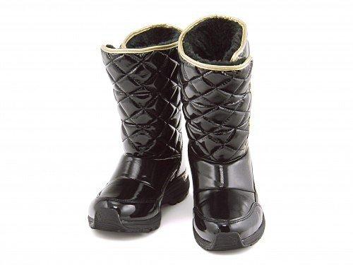 [シュガー] Sugar 女の子 キッズ 子供靴 スノーブーツ ウィンターブーツ スニーカー スパイク付き 防寒 防水 雨 雪 靴 EE SG WJ041SP ブラック 21.0cm