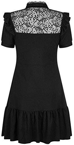 Schwarz Raven Never Kleid Ruffle schwarz Dress Killstar R0fqx5w
