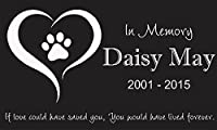 "Custom Made Pet Stone Memorial Marker Granite Marker Dog Cat Horse Bird Human 6"" X 10"" Personalized Personalised Shar Pei Lhasa Apso Yorkie"