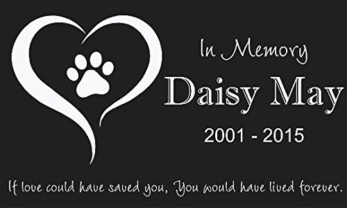 Personalized Pet Stone Memorial Marker Granite Marker Dog Cat Horse Bird Human 6'' X 10'' Personalised Dalmatian Doberman Pinscher by Pet Stones USA (Image #1)