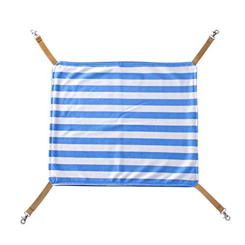 - Balacoo Cat Hanging Hammock Pet Cage Soft Cotton Sleeping Mat Blue Stripe Pattern Under Chair Hammock Cradle Crib (Size S