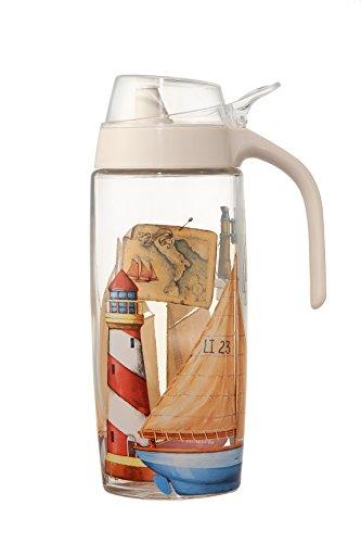 Olive Oil Dispenser/Glass Cruet - Bottle Dispenser for Salad Dressing, Oil, Vinegar, Syrups - 16 oz, 500ml