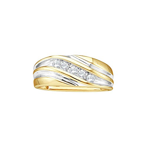14k Yellow Two-tone Gold Mens