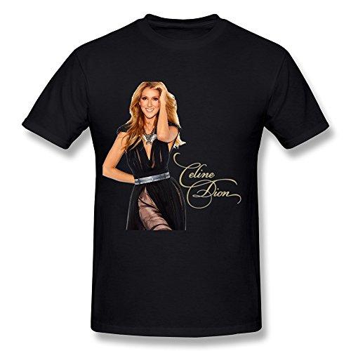SHUNAN Men's Celine Dion T-shirt Size L - Shirt Celine T Mens
