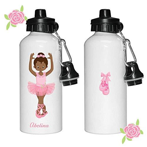 (WENNUNA Personalised Water Bottle, Ballet Water Bottle, Dance Water Bottle, Water Bottles for Girls, Sports Bottles, 600ml)