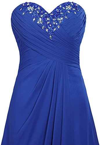Soir En Mousseline De Soie Unique Les Robes Longues De Bal De Fourmis Femmes Bleu Robe