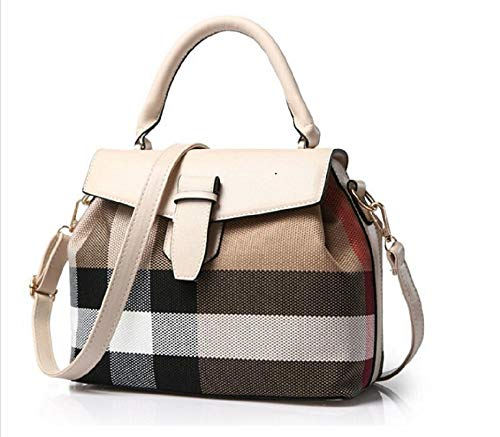 (Woman Handbag On Sale Stylish Crossbody Satchel Shoulder Trendy Modern Fashionable Designer Tote leather Ladies wallets bags & purse on clearance (color BEIGE, SIZE: 11L,5W, 9H in INCH))