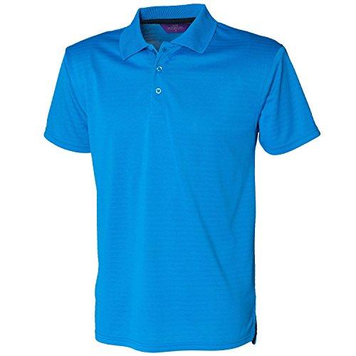 Henbury CooltouchTextured H473 Vivid-Polo da uomo, taglia M, colore: blu