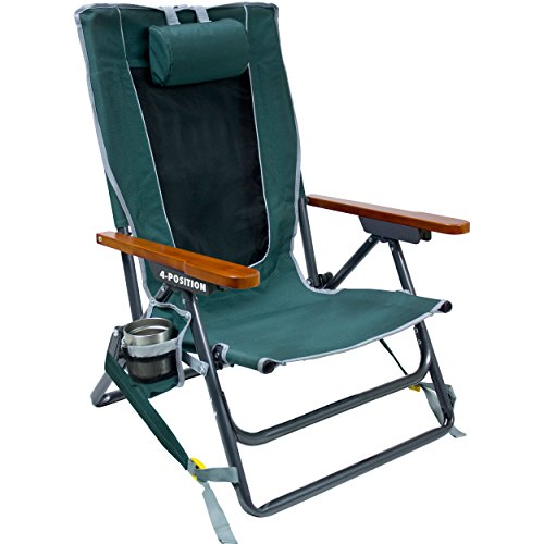 GCI Outdoor Wilderness Reclining Portable Backpack Chair, Hunter -