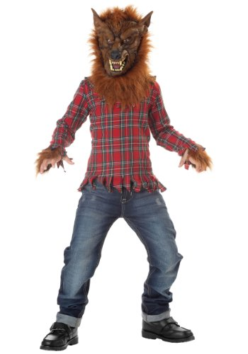 Boys' Deluxe Red Werewolf Costume