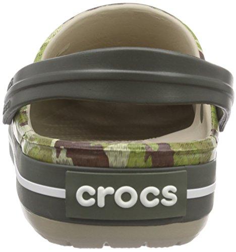 Adulto Crocs Camo Unisex Dusty Grigio Olive Crocband TTFq6Zn7