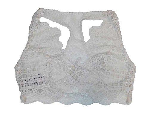 Victoria's Secret Dream Angels Bralette Racerback Lace Unlined Bra Ivory M