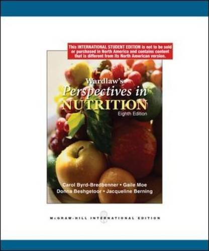 Wardlaws Perspectives In Nutrition 8Ed (Ie) (Pb 2007)