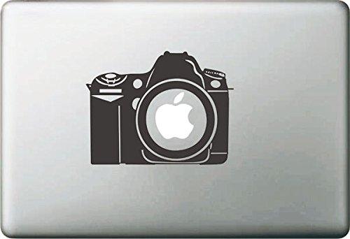 Vati Blätter Removable kreative Karikatur-Apple-Weinlese-Kamera Aufkleber Aufkleber Skin Art Schwarz für Apple Macbook Pro Air Mac 13
