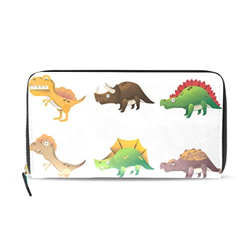 Spring Coin Set - Womens Wallets Set of Dinosaur Icons Leather Passport Wallet Coin Purse Girls Handbags