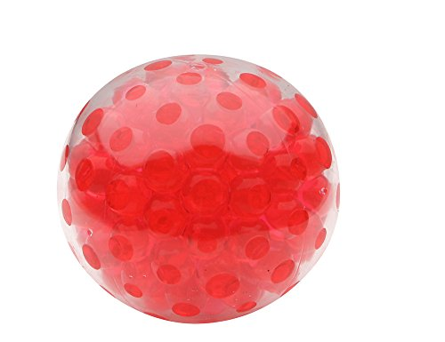 Balls Squeezable (Red Bead Gel Stress Ball | Squeezable Stress Squishy Toy For Autism, ADHD & Anxiety)