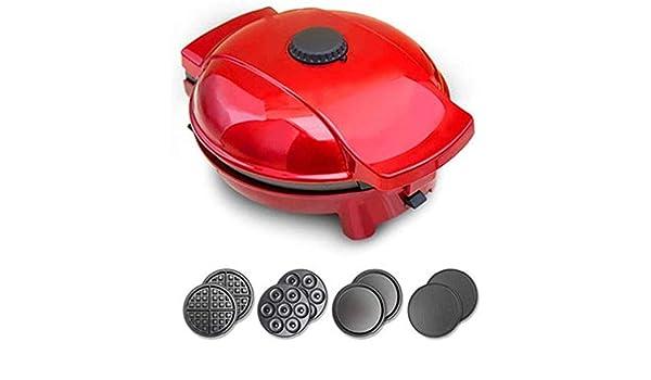 Pequeños utensilios de cocina Bote de color rojo pastel de robot de cocina multifuncional torta Máquina Egg Roll máquina de gofres máquina Cuatro en uno pequeño pastel batidora (Color: Rojo, Tamaño: 2: