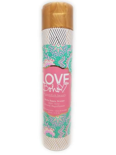 - Swedish Beauty Love Boho HAUTE HIPPIE Bronzer Tanning Bed Lotion, 10 oz